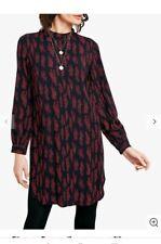 Hush Jinx Dress Red And Black Long Sleeve High Neck mini shift  Dress Size 12