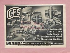 RUHLA, Werbung 1939, C. & F. Schlothauer GmbH Gas-Wasser-Automobil-Armaturen