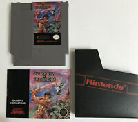 Wizards & Warriors Nintendo NES 1987 Tested Clean Authentic Instructions No Box
