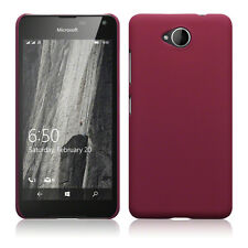 Genuine High Impact Rubberised Case Micro Slim Bumper Red Microsoft Lumia 650
