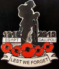 ANZAC Ww1 100th Anniversary Egypt Gallipoli 1915-2015 Commemorative Badge Medal