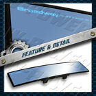 Broadway 240mm Wide Convex Universal Interior Clip On Rear View Blue Tint Mirror