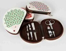 Sass & Belle Red Print Design Hedgehog Manicure Kit! With 5 Steel Tools!