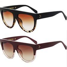 Womens Ladies Oversized Flat Top High Quality Hand Polished UV400 Sunglasses