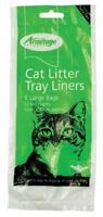 Armitage Cat Litter Liners Large Green (Pack of 12)