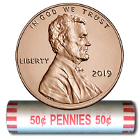 2019-P Lincoln Shield Cent~Unopened~Original Bank Roll~Discount Ship on Multiple