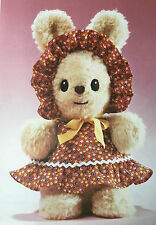 Sewing pattern Jean Greenhowe Easter Bunny marionnette à main 2 Outfits doll toy 28 cm