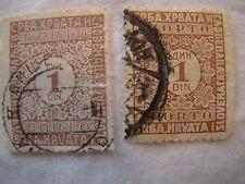Yugoslavia Stamp 1924 Scott J15 D3  Postage Due Set of 2