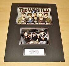 THE WANTED GENUINE GROUP HAND SIGNED AUTOGRAPH 12x16 PHOTO MOUNT DISPLAY + COA
