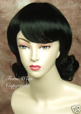 Classical Style Wig in Black / 100% Japanese Fibre Brilliant Quality