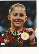 SHAWN JOHNSON OLYMPIC GYMNAST HAND SIGNED COLOR 8X10 W/ JSA SOA + PROOF #3
