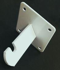 Gridwall Wall Mount Bracket - Grid Panel Mounting Brackets - White - 8 Pieces