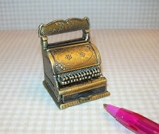 Miniature Quality Old-Fashioned Cash Register (Antique Gold): DOLLHOUSE 1/12