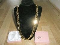 "24Carat  Gold Plated 24"" 10mm SG1008 Chain Necklace, Men's Birthday Present"