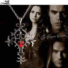 Vintage Gothic Cross The Vampire Diaries Bijouterie Cross Necklace Pendant UK