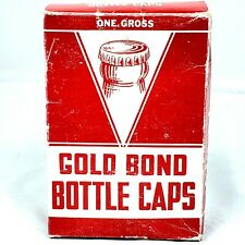 Vintage Gold Bond Bottle Caps with Box 142 Count
