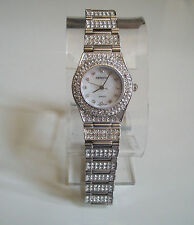 Designer Small hip hop CZ Bling clubbing watch silver finish metal bracelet