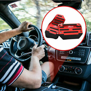 Auto Universal Red Non-Slip Automatic Gas Brake Foot Pedal Pad Cover Accessories