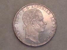 -  Austria 1860 A Franz Joseph One 1 Silver Florin Choice Uncirculated UNC