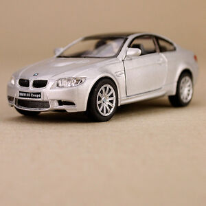 2009 BMW M3 Coupe Collectible Die-cast Model Car 12cm Silver Pull-Back Detailed