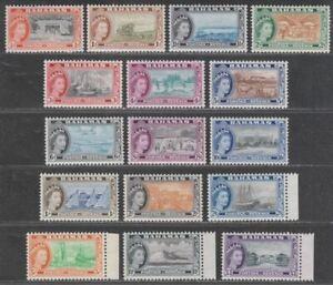 Bahamas 1954 Queen Elizabeth II Set Mint SG201-216 cat £100 top values unmounted