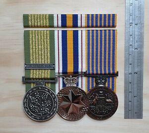NATIONAL EMERGENCY MEDAL, POLICE SERVICE, NATIONAL MEDAL + BAR - NEM NPSM NM