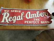 Antique Regal Amber Beer Decal 14X40 inches
