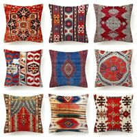 "Throw PILLOW COVER Tapestry Kilim Rug Print Decorative Soft Cushion Case 18x18"""