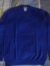 COMME des GARCONS Dover Street Market NEUF sans étiquette Col V Bleu 100% laine sweater jumper