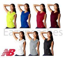 NEW BALANCE Women's Sleeveless ATHLETIC WORKOUT Gym T-shirt dri-fit Tee XS-2XL