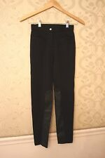 NWT Crewcut Girls Black Dressy Leggings Pants Jeggings with Faux Leather Size 8