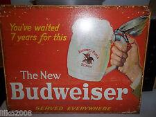 BUDWEISER (the NEW), METAL WALL SIGN 40X30cm, BEER/PUB/BAR/KITCHEN/SALOON, USA