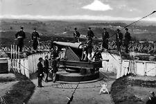New 5x7 Civil War Photo: Parrott Gun Cannon of 3rd Massachusetts, Fort Totten