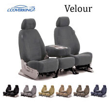 Coverking Custom Seat Covers Velour Front Row - 7 Color Options