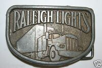 WOW Vintage Raleigh Lights Cigarettes Trucker Trucking Semi Brass Belt Buckle