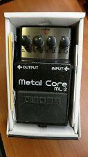 Boss ml-2 Metal Core with Box Guitar Pedal pedal guitar WWSHIP
