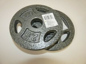 """New Pair 2.5 Lb Barbell Weight Plates 5"""" Dia 1"""" Hole NWT"""