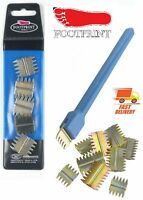 "Footprint Scutch Comb Chisel 1"" Inch with 5pc Scutch Combs Bricklayers Tools"