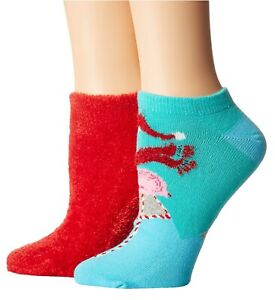 nWT HUE 2-Pk. Pack LOT Footsie Socks. U19595