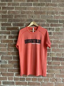 Lululemon Urbanathon Athletic Shirt Size Large Salmon Pink