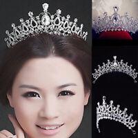 Bridal Wedding Crystal Rhinestone Princess Tiara Hair Band Prom Headband Crown