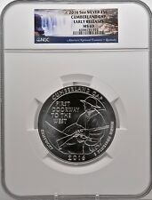 2016 5oz SILVER 25C Cumberland Gap  NGC MS 69 Early Releases must see!