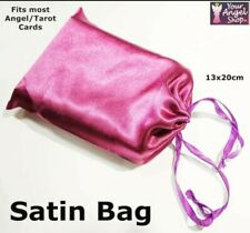 Angel Card Tarot Card Satin Bag Purple With Drawstrings 13x20cm New