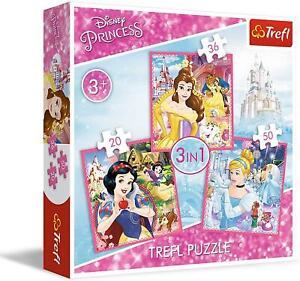 Trefl 3 in 1 Disney Princess Jigsaw Puzzles Gift Girls Game 3+ Game