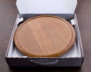 NEW Open Box Ekornes Stressless Swing Table Adjustable Teak Wood Round