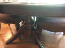 """dining room set, Table, 6 chairs, 2 leaves, Breakfront. Solid wood 100""""x 44"""""""