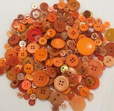 Orange Buttons 100pcs Assorted Shades & Sizes Bulk Lot Aussie Seller
