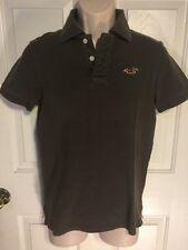 Hollister Men's Polo Shirt, Green, 100% Cotton, Small