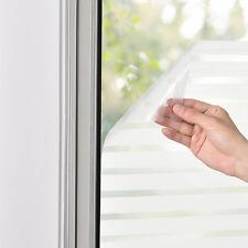 [casa.pro]® Sichtschutzfolie 100cm x 2m statisch Milchglasfolie Folie gestreift