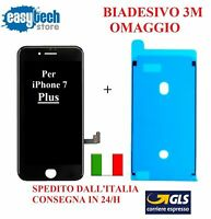 TOUCH SCREEN LCD Display frame Biadesivo iPhone 7 Plus Schermo NERO